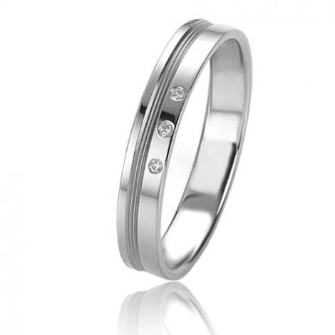 Alliance Basic Lignt 3.5 mm Or Blanc diamant Saturne - 05625