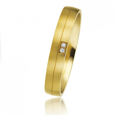 Alliance Basic Lignt 3.5 mm Or Jaune diamant Valeria - 05607