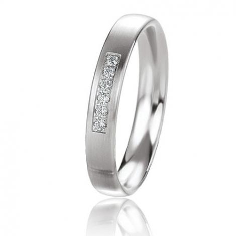 Alliance Basic Lignt 3.5 mm Platine 950 diamant Delphes - 05629PT
