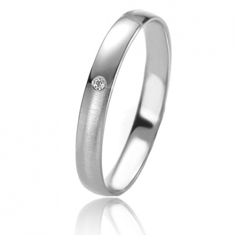 Alliance Basic Lignt 3 mm Or Blanc diamant Alessandra - 05665