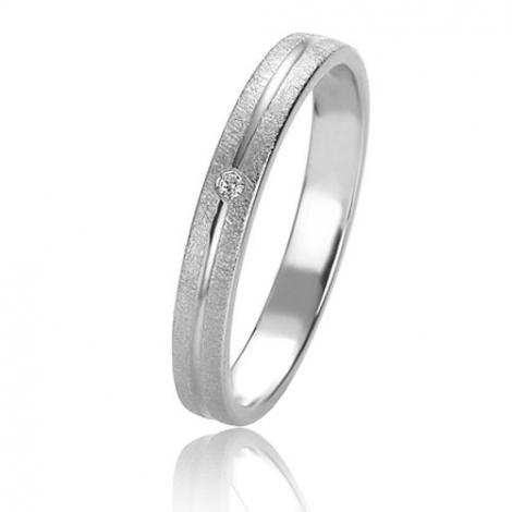Alliance Basic Lignt 3 mm Or Blanc diamant Halia - 05621