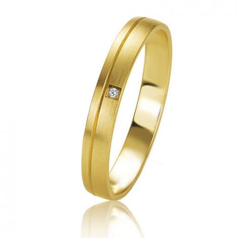 Alliance Basic Lignt 3 mm Or Jaune diamant Julianne - 05605