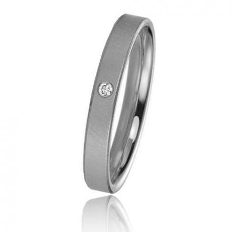 Alliance Basic Lignt 3 mm Platine 950 diamant Selena - 05601PT