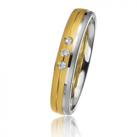 Alliance Basic Lignt 4 mm 2 Ors diamant Naïa - 05633