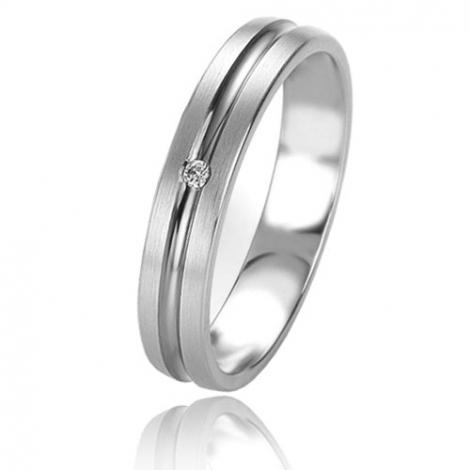 Alliance Basic Lignt 4 mm Or Blanc diamant Glamour - 05661