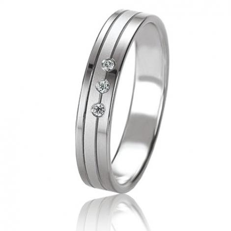 Alliance Basic Lignt 4 mm Or Blanc diamant Justine - 05667