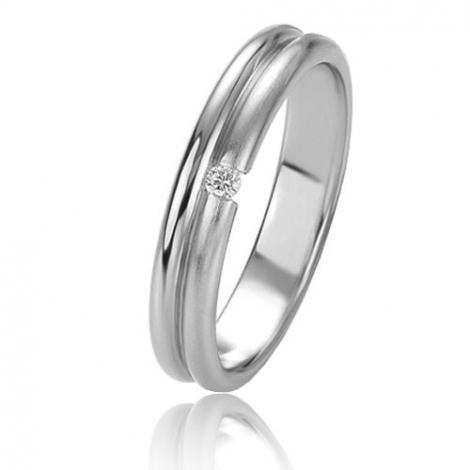 Alliance Basic Lignt 4 mm Or Blanc diamant Yuliana - 05627
