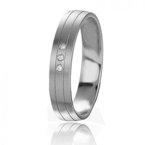 Alliance Basic Lignt 4 mm Platine 950 diamant Féerique - 05609PT