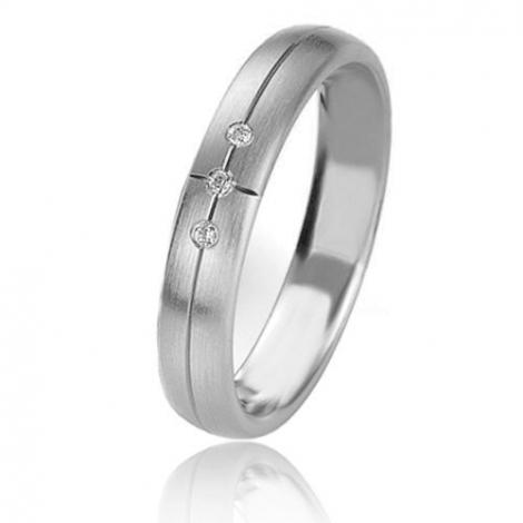 Alliance Basic Lignt 4 mm Platine 950 diamant Lise - 05631PT