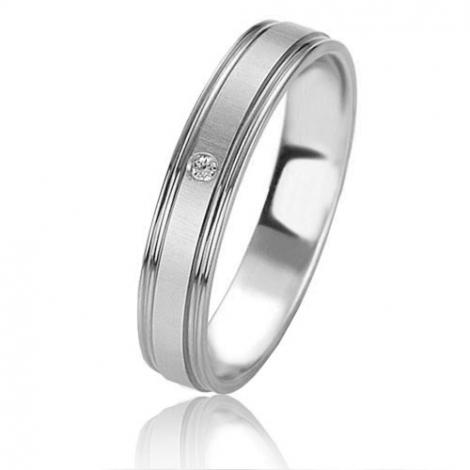Alliance Basic Lignt 4 mm Platine 950 diamant Oxanna - 05657PT
