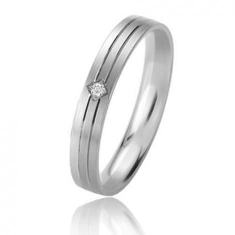 Alliance Basic Lignt II 3.5 mm Alizée Platine 950 diamant -04213PT
