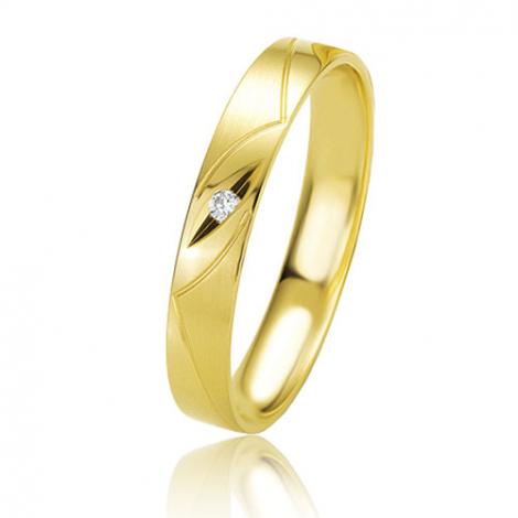 Alliance Basic Lignt II 3.5 mm Claudia Or Jaune diamant -04203