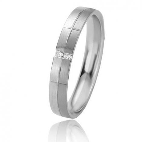 Alliance Basic Lignt II 3.5 mm Laélia Platine 950 diamant -04233PT