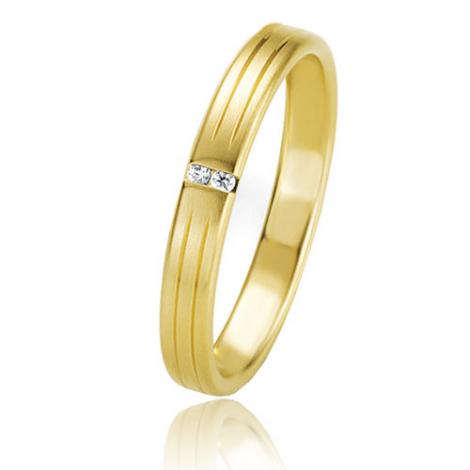 Alliance Basic Lignt II 3 mm Clémentine Or Jaune diamant -04201