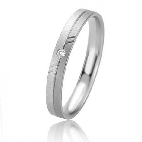 Alliance Basic Lignt II 3 mm Shanna Platine 950 diamant -04211PT