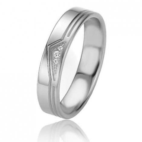 Alliance Basic Lignt II 4.5 mm Alanna Platine 950 diamant -04209PT