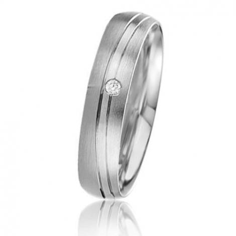 Alliance Basic Lignt II 4.5 mm Elodie Platine 950 diamant -04239PT