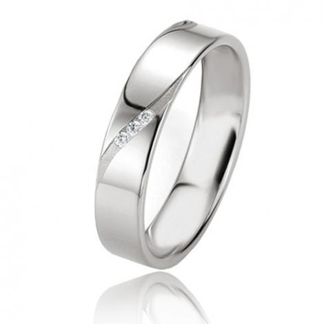 Alliance Basic Lignt II 4.5 mm Héloïse Platine 950 diamant -04229PT