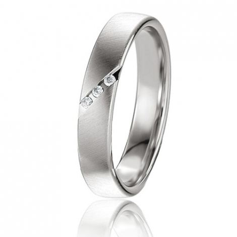 Alliance Basic Lignt II 4 mm Adeline Platine 950 diamant -04227PT