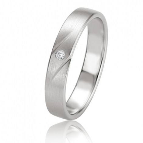 Alliance Basic Lignt II 4 mm Alyona Platine 950 diamant -04225PT
