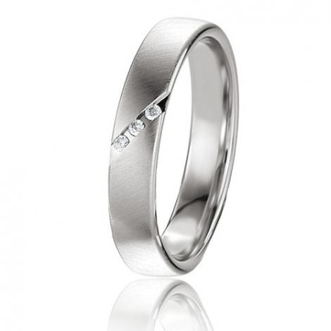 Alliance Basic Lignt II 4 mm Kyana Or Blanc diamant -04227