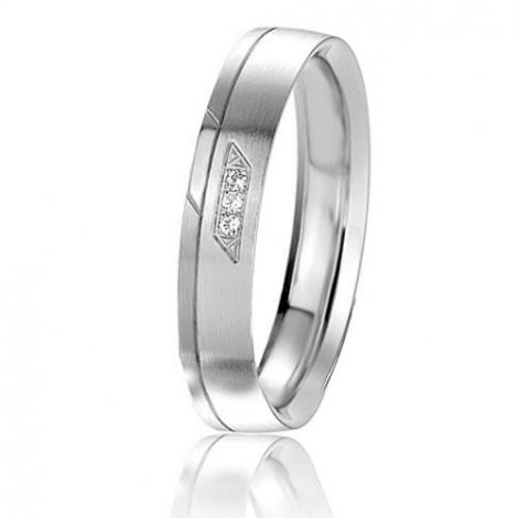 Alliance Basic Lignt II 4 mm Lauriane Platine 950 diamant -04237PT