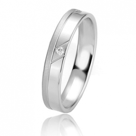 Alliance Basic Lignt II 4 mm Malika Platine 950 diamant -04235PT