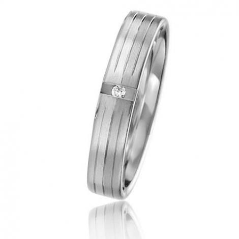 Alliance Basic Lignt II 4 mm Mylie Platine 950 diamant -04217PT