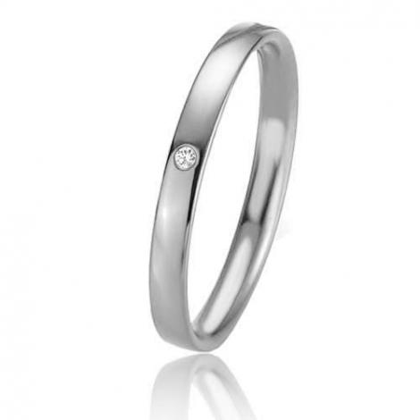Alliance Basic Lignt Slim Camilla 2 mm Platine 950 diamant-04301PT