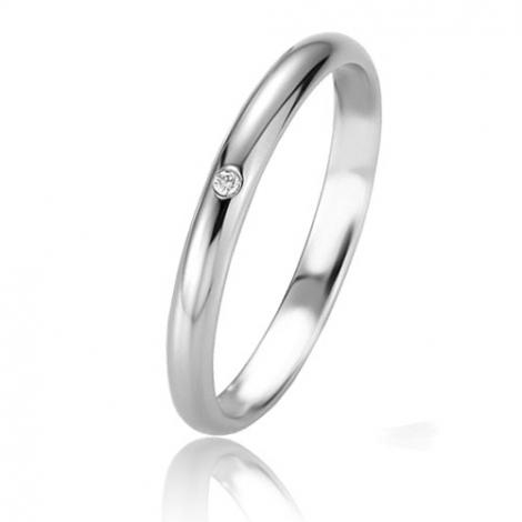 Alliance Basic Lignt Slim Charlotte 2.5 mm Platine 950 diamant-04311PT