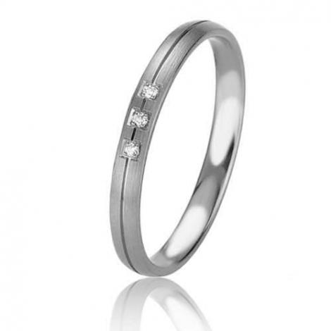 Alliance Basic Lignt Slim Delphes 2.5 mm Platine 950 diamant-04323PT