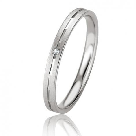 Alliance Basic Lignt Slim Isabella 2.5 mm Or Blanc diamant-04321