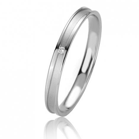 Alliance Basic Lignt Slim Jessica 2.5 mm Platine 950 diamant-04325PT