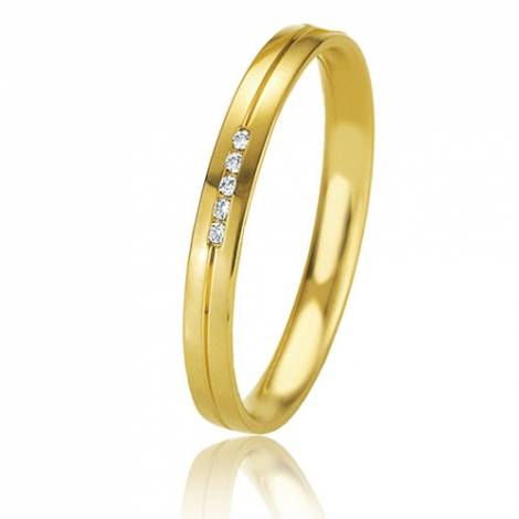 Alliance Basic Lignt Slim Lucia 2.5 mm Or Jaune diamant-04327