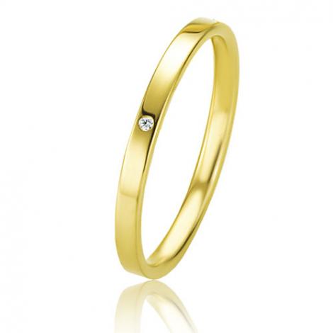 Alliance Basic Lignt Slim Naïa 2.5 mm Or Jaune diamant-04309