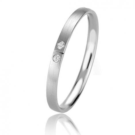 Alliance Basic Lignt Slim Oxana 2 mm Or Blanc diamant-04329