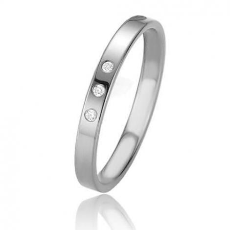 Alliance Basic Lignt Slim Oxanna 2.5 mm Platine 950 diamant-04313PT