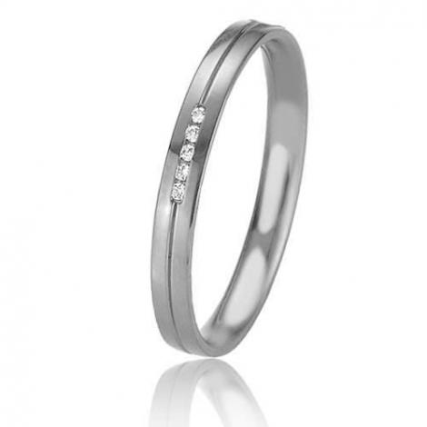 Alliance Basic Lignt Slim Venus 2.5 mm Platine 950 diamant-04327PT