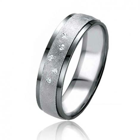 Alliance Black & White Élya 5.4 mm Or Blanc diamant -07145