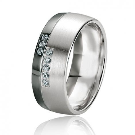 Alliance Black & White Alexane 8 mm Or Blanc diamant -06123