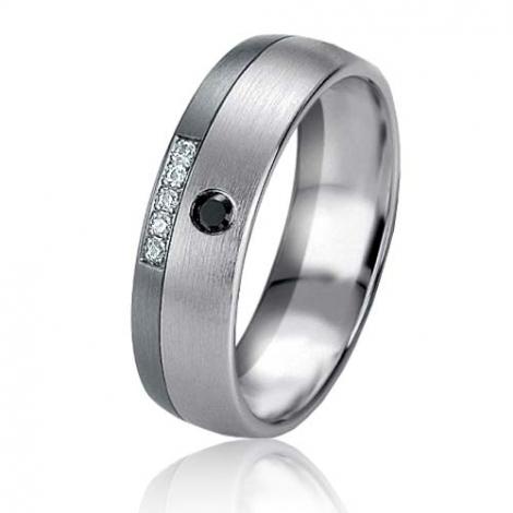Alliance Black & White Ania 5.9 mm Or et Ruthenium diamant -06417