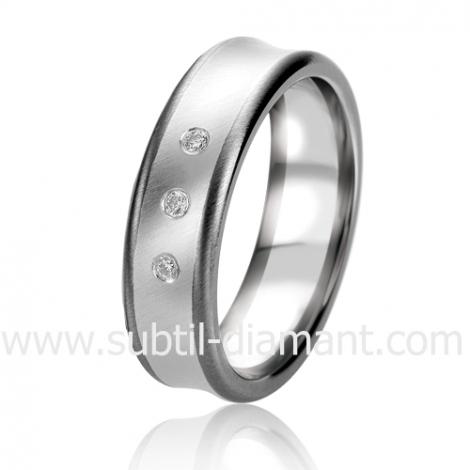 Alliance Black & White Celestis 6 mm Or et Ruthenium diamant -06315