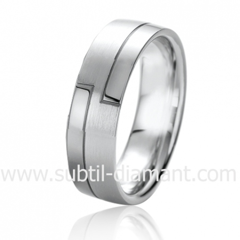 Alliance Black & White Charme 6 mm Or et Ruthenium  -06326