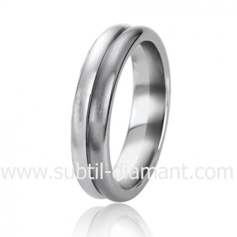 Alliance Black & White Clémence 5.5 mm Or et Ruthenium  -06302