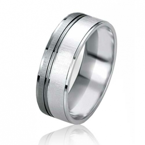 Alliance Black & White Florence 6.4 mm Or Blanc  -07150
