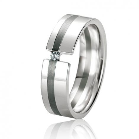 Alliance Black & White Koralie 6 mm Or Blanc diamant -06131