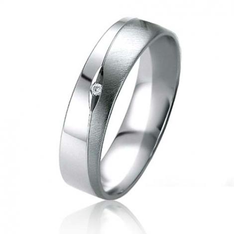 Alliance Black & White Louna 5 mm Or et Ruthenium diamant -07163