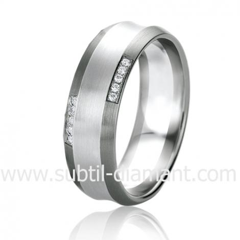 Alliance Black & White Mylie 6.5 mm Or et Ruthenium diamant -06317