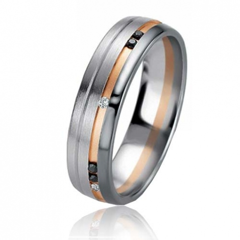 Alliance Black & White Rêveuse 5.4 mm 2 Ors diamant -06405