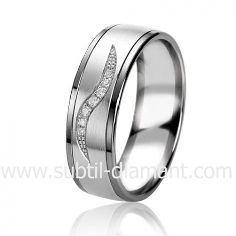 Alliance Black & White Rhéa 6.5 mm Or et Ruthenium diamant -06319
